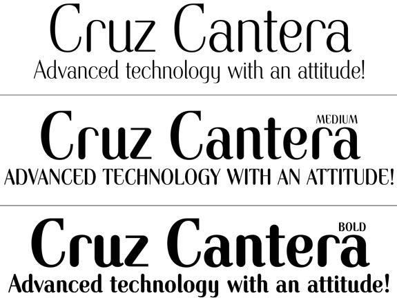 Ray Cruz • Typeface Design • Trade Fonts